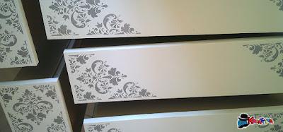 colora una cassettiera vecchia con stencil