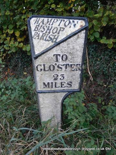 Milestone at Hampton Bishop