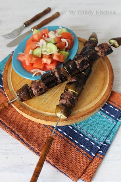 турско ястие с патладжан и кайма на шиш