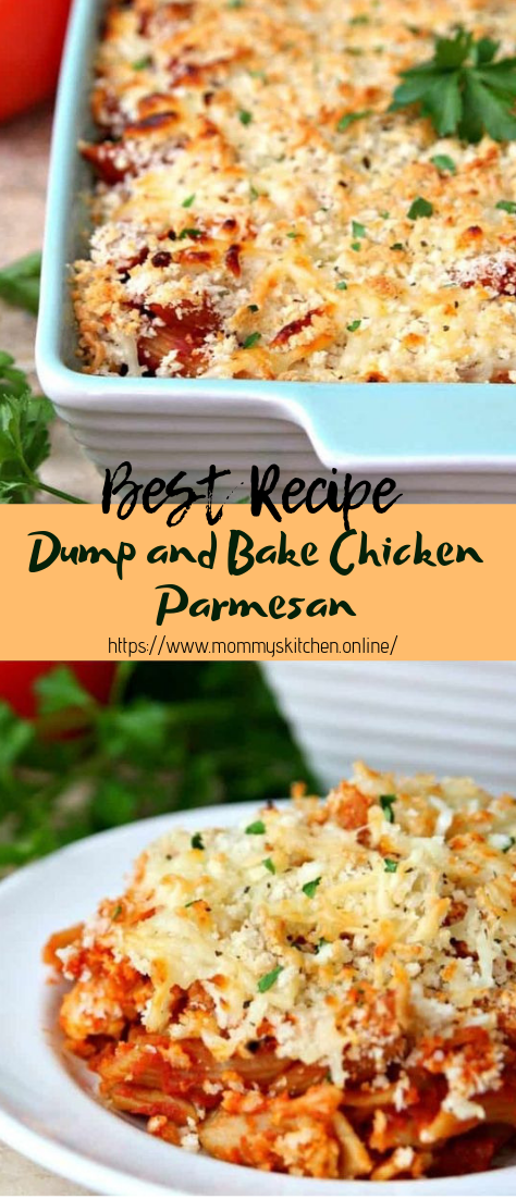 Dump and Bake Chicken Parmesan #dinnerrecipe #food