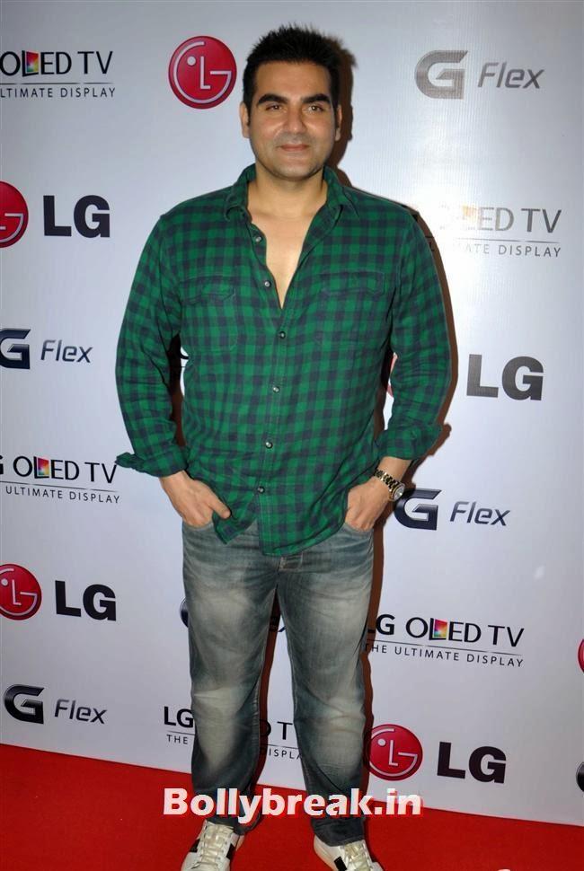 Arbaaz Khan, Celebs at LG G Flex Smartphone Launch