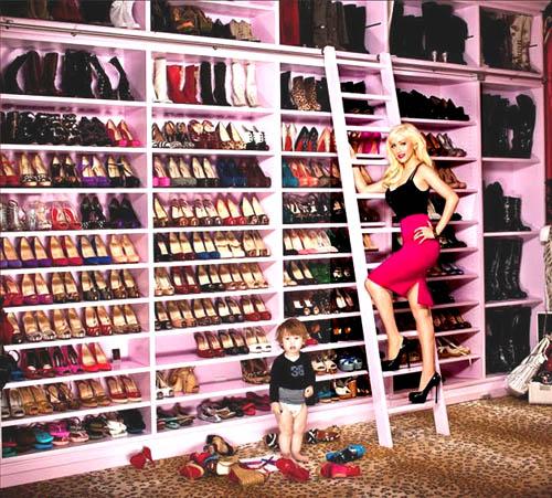 Cara menyimpan sepatu selebriti