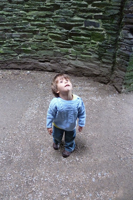 Cilgerran Castle with a toddler