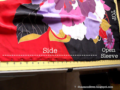 sew up sides of scarf, leaving sleeve hole open
