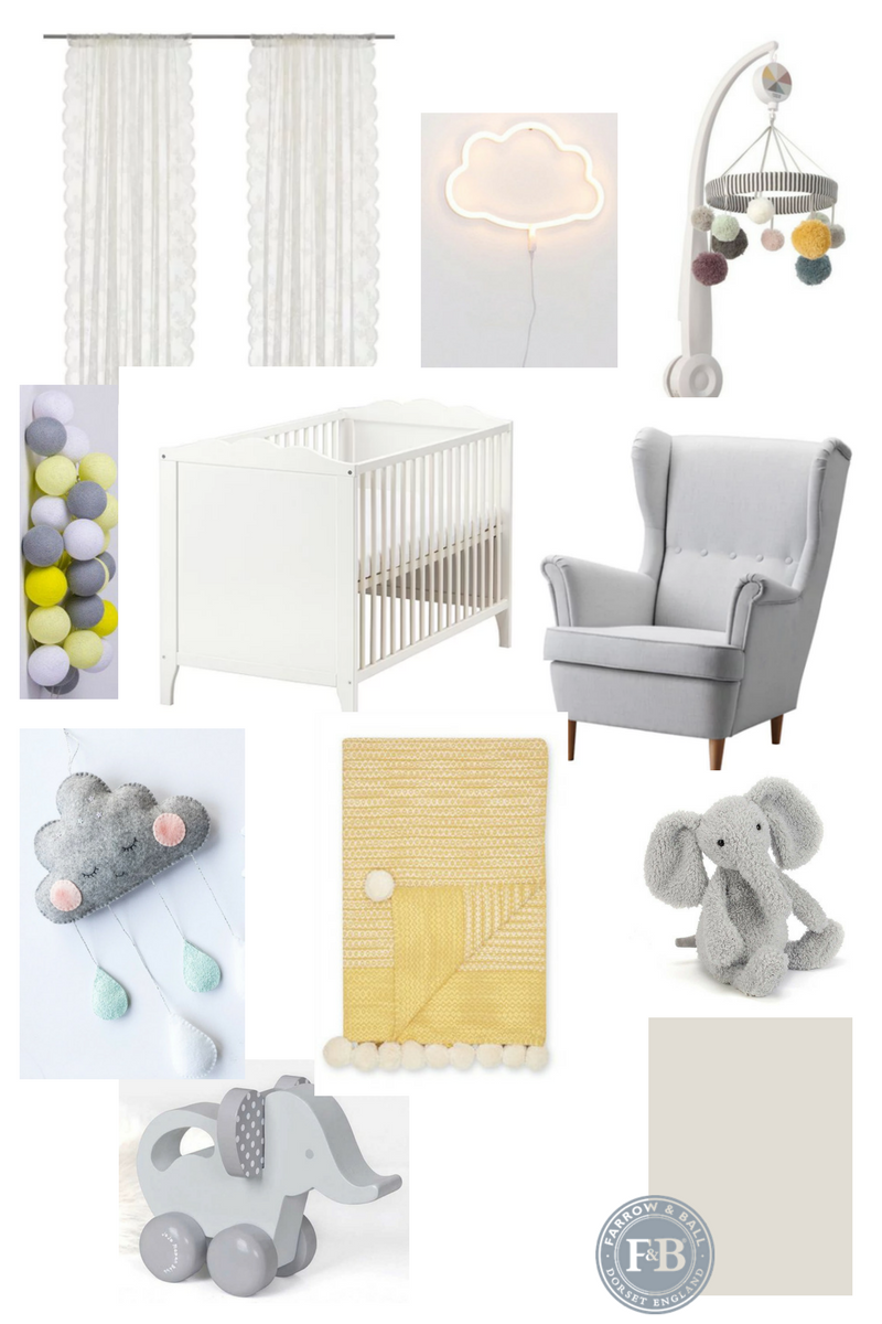 baby nursery yellow grey gender neutral. Mood Board And Inspiration For A Gender Neutral Baby Nursery Featuring  Grey Yellow Colour