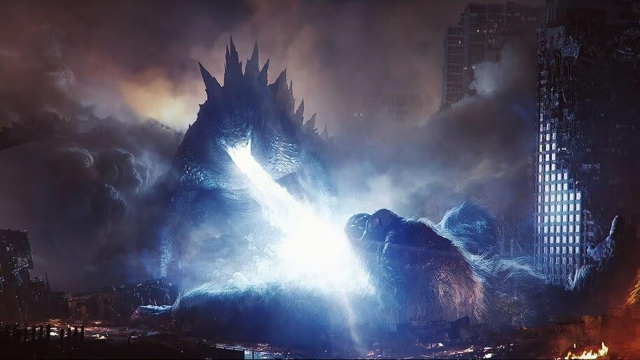 Godzilla vs. Kong, Movie, Battle, Art, 4K, #3.2282