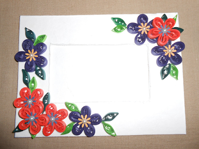 Flower designs quilling photo frames for all - quillingpaperdesigns