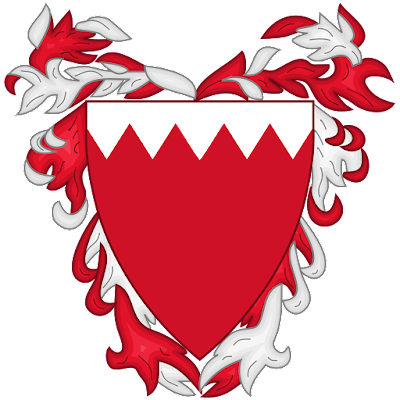 Coat of arms - Flags - Emblem - Logo Gambar Lambang, Simbol, Bendera Negara Bahrain