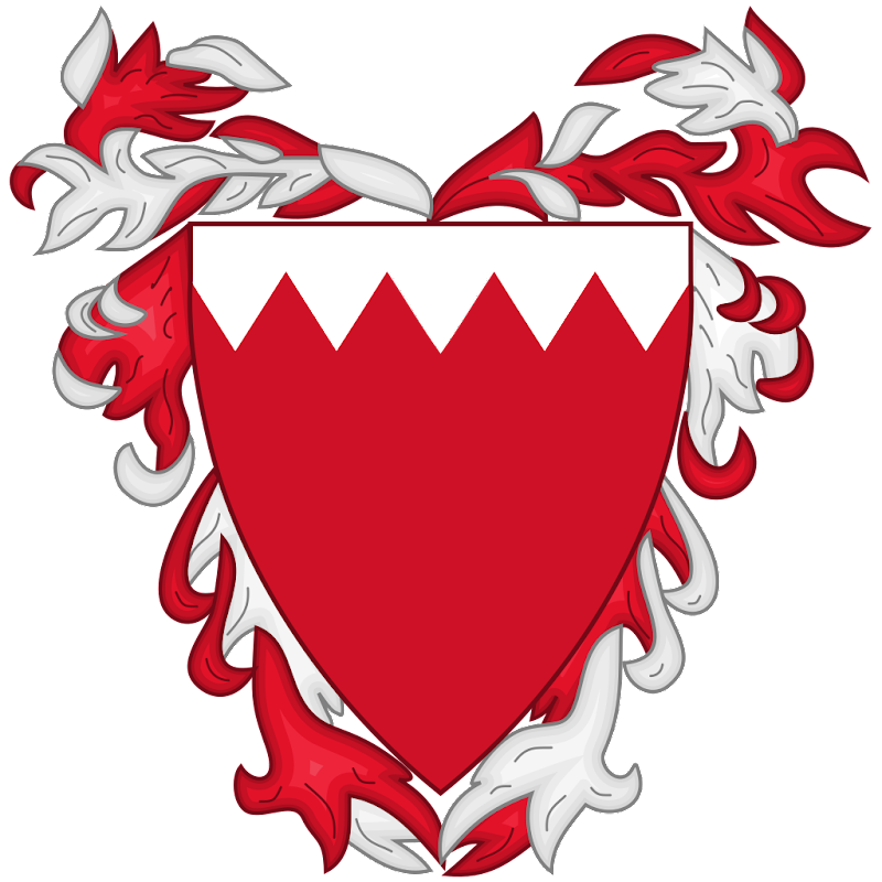 Logo Gambar Lambang Simbol Negara Bahrain PNG JPG ukuran 800 px