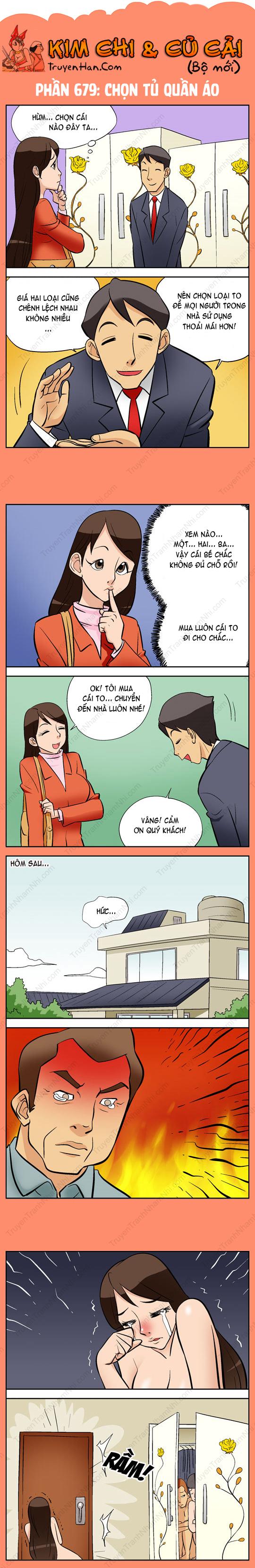 Kim Chi Và Củ Cải phần 679: Chọn tủ quần áo