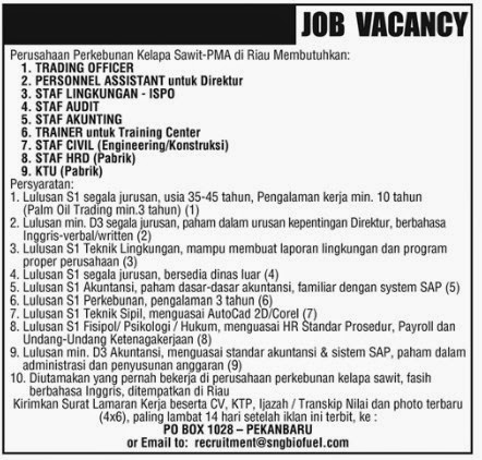 Job Vancancy