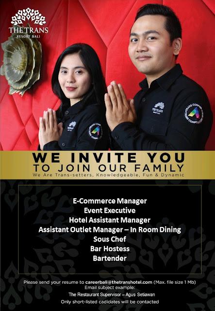 Lowongan kerja The Trans Resort Bali 2019