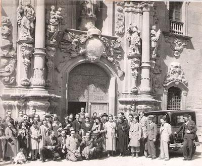 Integrantes del Club Ajedrez Barcelona en el Festival Ajedrecista de Ripoll de 1931