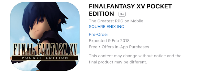 Final Fantasy XV Pocket Edition llegará el 9 de febrero