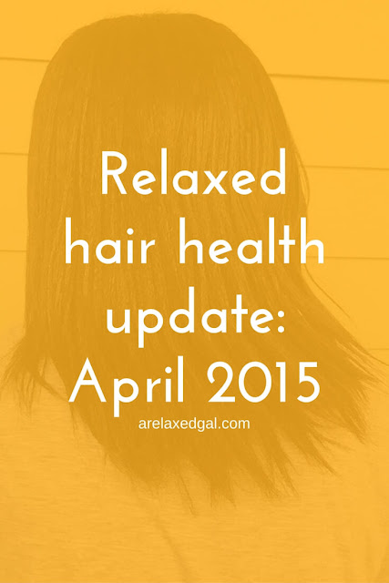 See what's been going on my healthy hair journey during April 2015. | arelaxedgal.com