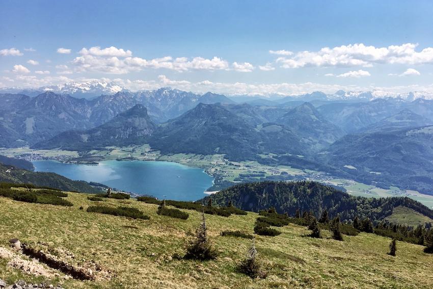Ausblick Richtung Wolfgangsee