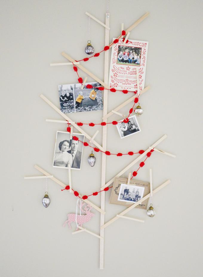 swoon studio: Handmade Christmas: Wooden wall tree.