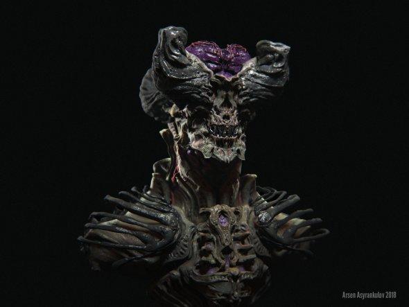 Arsen Asyrankulov artstation modelos 3D esculturas digitais fantasia terror ficção artes conceituais