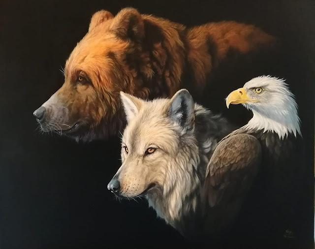 """""""Wildlife"""" Olio su tela, cm100x80, 2016 Roberto Bianchi"""