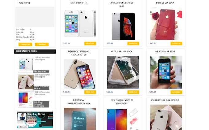 Giao diện blogspot bán hàng chuẩn seo 2019 - Sora Template Store Mod