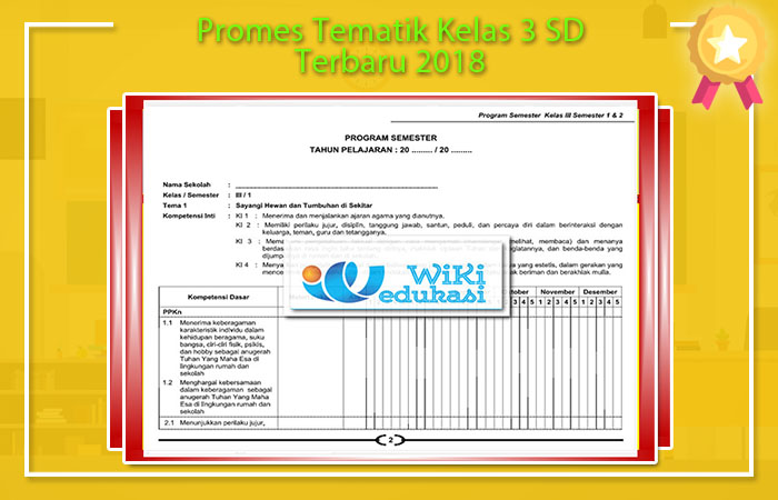 Promes Tematik Kelas 3 SD