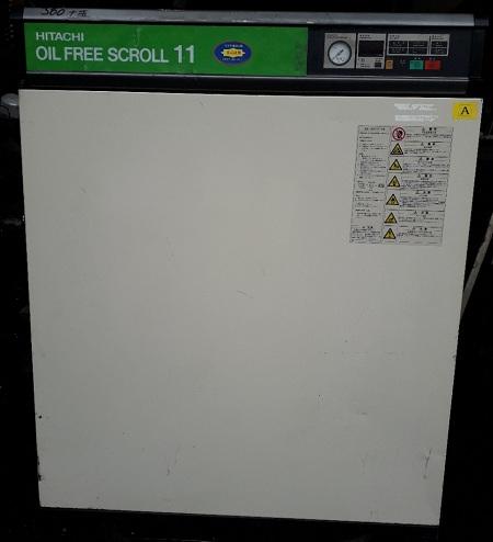 máy nén khí con sò Hitachi 11 kW oilfree scroll