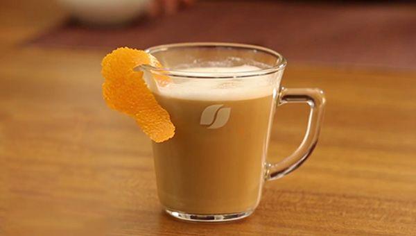 cappuccino makinesi - portakallı kapucino yapımı - KahveKafeNet