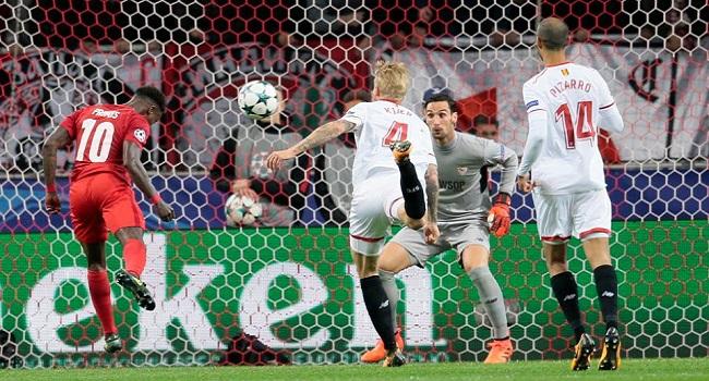 cuplikan gol sevilla vs spartak moskow 2-1