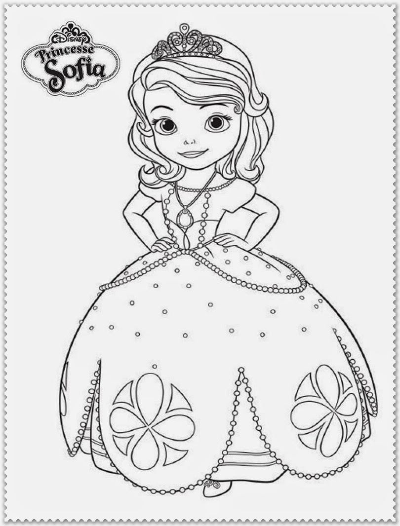 disney sofia the first coloring pages