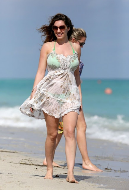 Kelly Brook on Miami Beach
