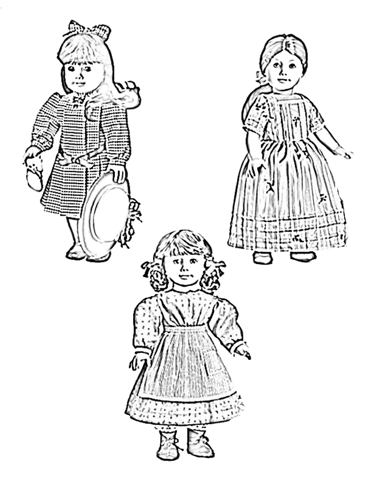 american girl elizabeth coloring pages - photo#4