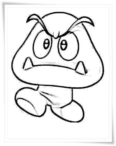 Ausmalbilder Zum Ausdrucken Super Mario