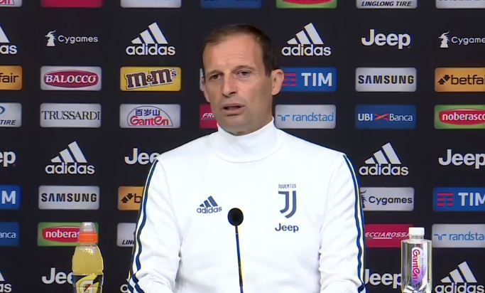 Inter Juventus: la conferenza stampa di Massimiliano Allegri. Testo e video integrale.