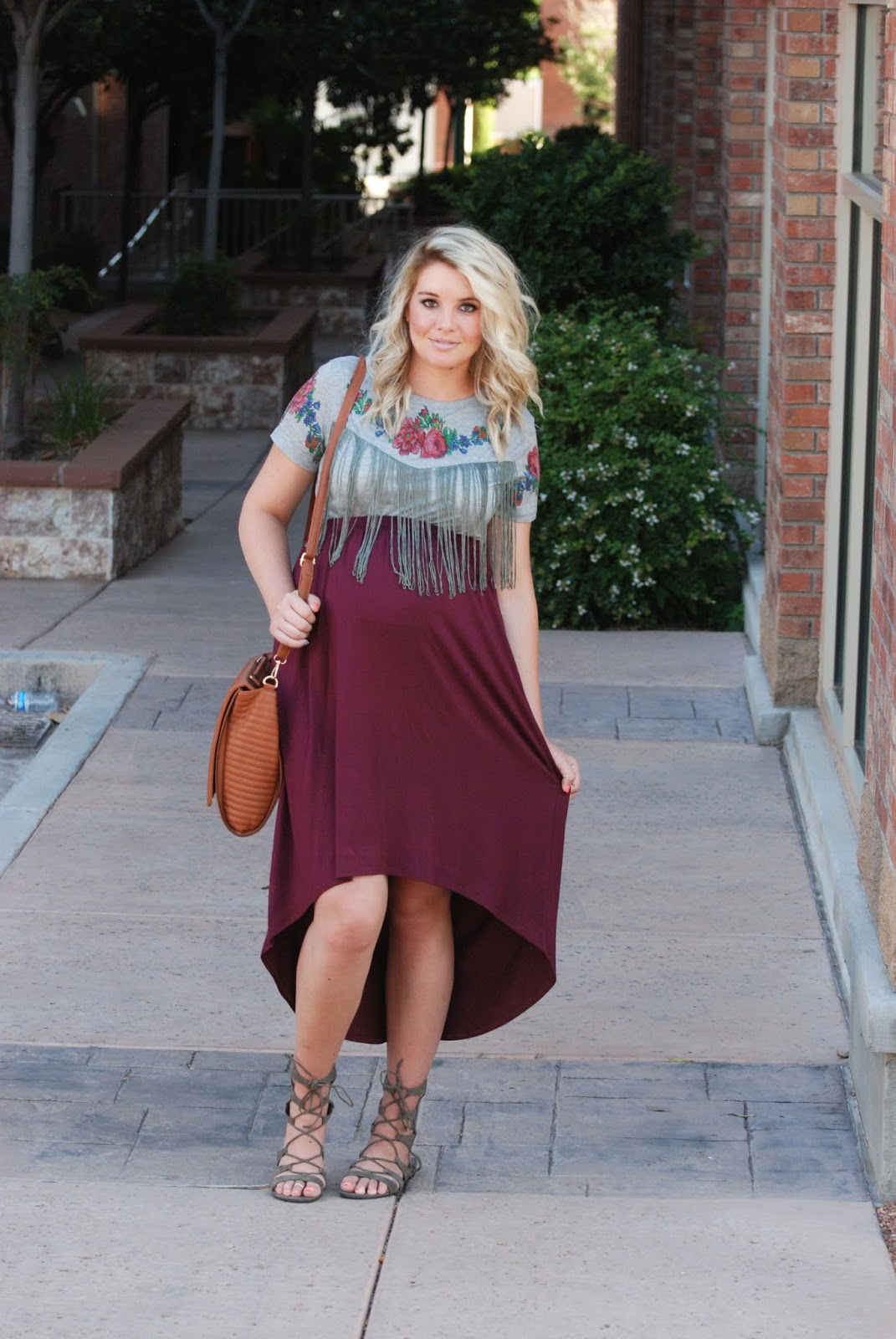 High Low Skirt, Pregnant Outfit, Maternity Outfit