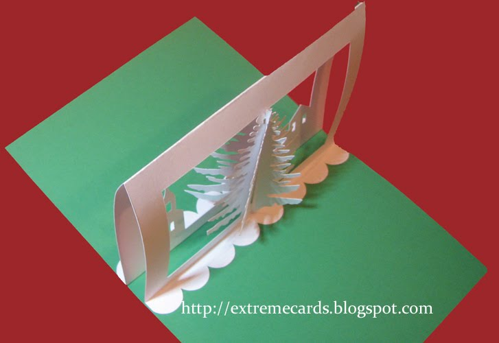 3D Christmas Tree Pop Up Card