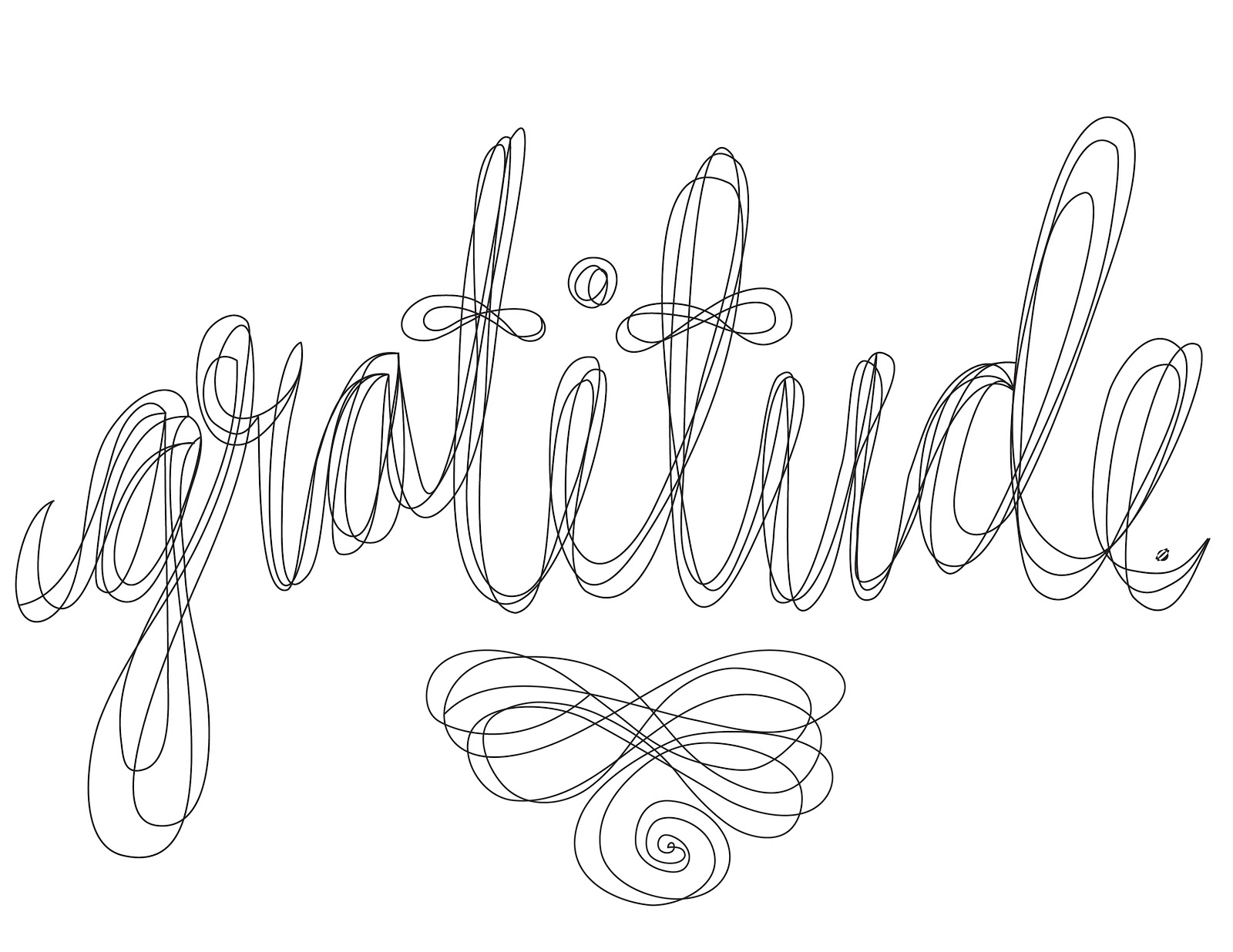 Grateful Coloring Pages