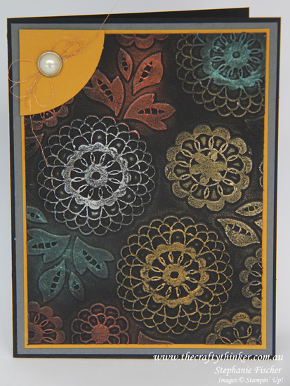 Stampin' Up Australia, #thecraftythinker, Lovely Lace Embossing Folder, Stampin up Australia Demonstrator, Gilding Wax