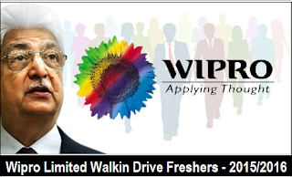 Wipro Walkin Drive 2017 for B.E/B.Tech/Any Degree On 24th June 2017