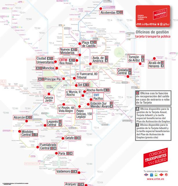27 oficinas de gesti n del abono transportes con la nueva for Oficinas del consorcio de transportes de madrid puesto 2