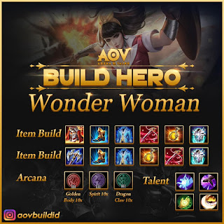 Item build, arcana, dan talent untuk Wonder Women