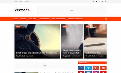 Vector Premium Blogging Blogger Template
