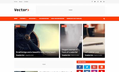 Vector Premium Blogging Blogger Template