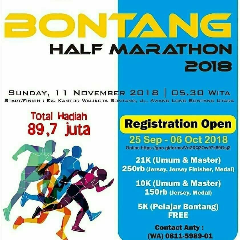Bontang Half Marathon • 2018