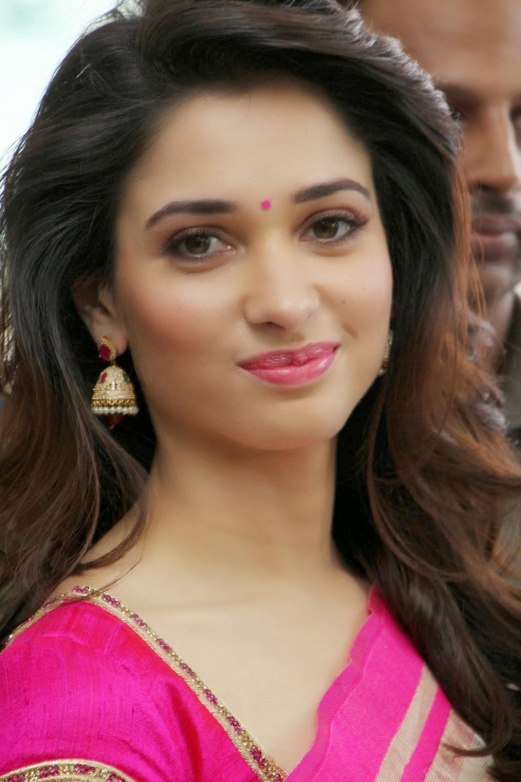 Tamanna Latest: Tamanna Latest Photos In Pink Saree At Trisha A Trendy