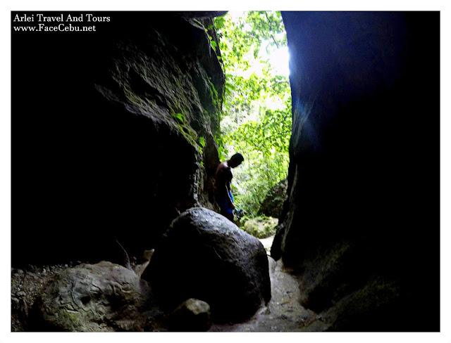 Cave shot going to Malabuyoc's Montaneza Waterfalls