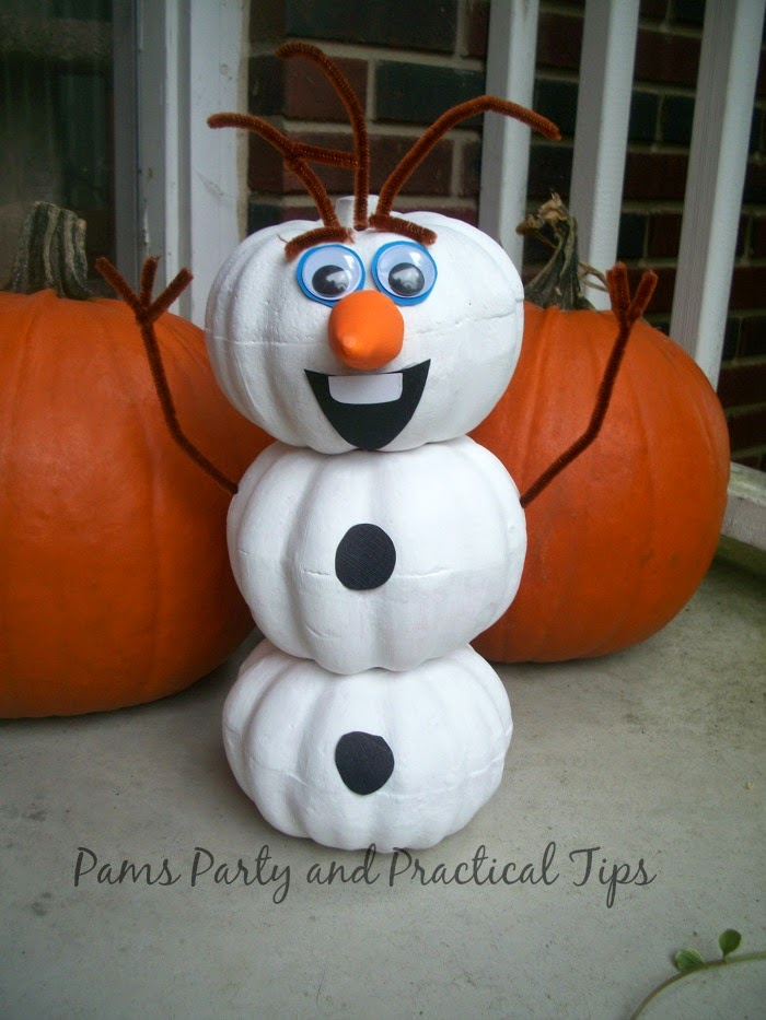 Olaf Pumpkin by Pam's Party and Practical Tips