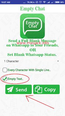 Aplikasi Empty Chat Kirim Pesan