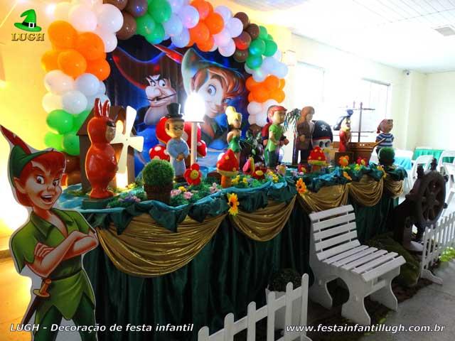 Decoração Peter Pan para festa de aniversário - Mesa decorativa infantil