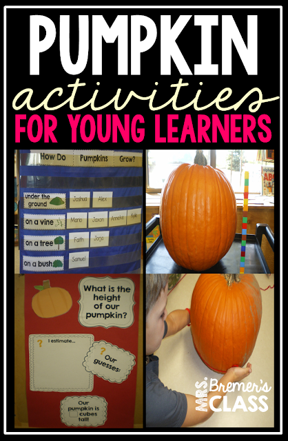 Tons of fun fall Pumpkin activities for Kindergarten!