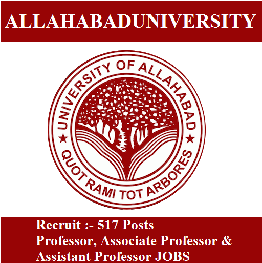 Allahabad University Assistant Professor Recruitment 2017 | Apply Online 517 ASU Professor, Associate Professor Jobs